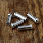 Abschlußhülse, D=3.2/2.2mm L=10mm, Aluminium