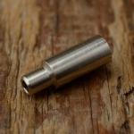 Abschlußhülse / Endkappe, D=6.8/4.2/3.8mm L=16.5mm, Bohrung 2.3mm, abgesetzt, Messing vernickelt