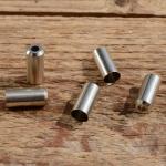 Abschlußhülse / Endkappe, D=5.5/5.0mm, Loch=2mm, Messing vernickelt