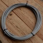 Bowdenzugaußenhülle, außen 5.3 mm, innen 2,8 mm, grau, 5 m Ring