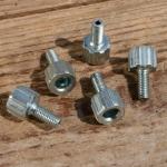 Stellschraube M5, L=21mm, D=12/6/2.2mm, verzinkt, Zugaufnahme rund/gerändelt
