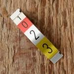 Skala f. Magura Schaltarmatur 3-Gang, Alublech