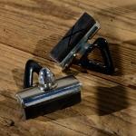 Bremsklötze mit Halter, für Rennradklassiker / Sportrad, orig. Satz 2 Stück, ca. 42 x 11,5 mm, M6