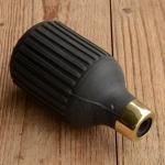 """Hupenbalg, schwarz, """"Flaschenform"""", D=52mm/L=105mm, Stutzen ca. 13mm"""