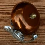 """Glocke """"PING"""", für Rennrad/Sportrad, bronze, D=57mm"""