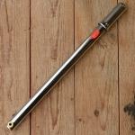 Luftpumpe mit Metallgriff, federnd, von 375 - 390mm, verchromt