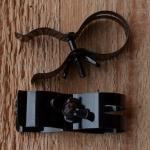 Pumpenhalter, glanz schwarz