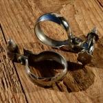 Spitzpumpenhalter, Luxusmod. verchromt, mit Federklemmung, orig Altbestand, D=27-30mm
