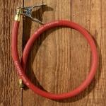 Luftpumpen-Schlauch, für Fußpumpe, rot, Länge 65cm, für Dunlop Ventil, (High Pressure)