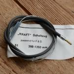"Schaltzug ""F&S Torpedo Dreigang"", schwarz, L=1350/360mm"