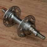 """Nabe Hinterrad, """"UNION"""", Hochflansch, verchromt, 36Loch, Einbaumaß 125mm, Achse FG 9.5mm"""