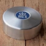 """Polradabdeckhaube """"REX"""", Aluminium, 130mm, incl. REX-Emblem u. 3 Niete"""