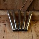 "Sattelstütze ""Kerzenform"" Stahl verchromt, Rohrdurchmesser: 25.4 mm / L=350"