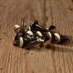 Sattelnieten Messing vernickelt, Durchmesser 10/3,8 mm, Länge 16 mm