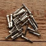Speichennippel f. Holzfelgen, 2mm, D-Schaft=4.0mm, L=25mm, Messing vernickelt, Sechskantkopf