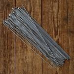 Speiche , 2.34 mm glatt, Edelstahl (VA), ohne Nippel, Mindestbestellmenge 20 Stück ! Länge: 256mm