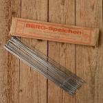 Speichen, DD 1.8 x 1.4 x 1.8 mm, doppelt endverstärkt, vernickelt, ohne Nippel, L: 310 mm