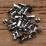 Speichennippel M3, D-Schaft=6.0 mm, L=16.5mm, Messing verchromt, Luxusausführung !