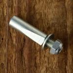 Kurbelkeil D=8.5mm, Stahl, glanzverzinkt, langer Anschliff (Standardausführung), schöne Ausführung aus franz. Bestand