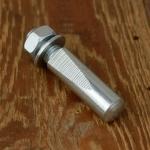 Kurbelkeil D=9.0mm, Stahl, glanzverzinkt, langer Anschliff (Standardausführung), schöne Ausführung aus franz. Bestand