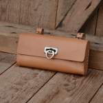 Satteltasche Leder, naturfarben, Standardabmessung  155 x 75 x 30mm, Beschläge vernickelt, passend für alle Klassiker
