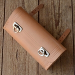 Satteltasche Leder, naturfarben, große Ausführung  175 x 85 x 40mm, Beschläge vernickelt, passend für alle Klassiker