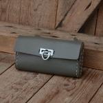 Satteltasche Lefa, grau, orig. 60/70er J. , Standardabmessung  150 x 75 x 28mm,  passend für alle Klassiker , alter Verschluß, Ledereriemen !