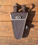 Werkzeugtasche für Herrenräder, braun, orig. 30/40er Jahre, alte Neuware, leichte Lager-Patina