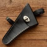 Werkzeugtasche, Lefa, schwarz, Beschläge vernickelt, passend für viele Damenfahrradklassiker