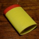 Asperg Flickzeug, Kunststoffdose, gelb