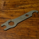 Flachschlüssel,  Blech, für Hinterradnabe Fichtel + Sachs Torpedo