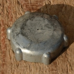 """Tankdeckel """"REX """", Aluminium, passend für REX Fahrradmotoren und frühe Mopeds, Gewinde 36 mm"""