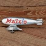"Schutzblechfigur ""MAICO Zeppelin"",  Alu Druckguss, orig. Altbestand"