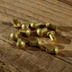Messing - Niet, D=5.0/3.0mm L=5mm, ideal zur Befestigung von Emblemen