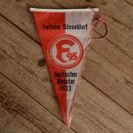 """TOBI-Wimpel """"FORTUNA DÜSSELDORF"""", 60/70er Jahre Altbestand"""
