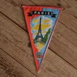 "TOBI-Wimpel ""PARIS"", 60/70er Jahre Altbestand"