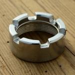 Auspuffkrümmer - Überwurfmutter für SACHS 50/3 u. 50/4, Stahl verchromt, M40 x 1.5, D=46/29mm, H=19mm