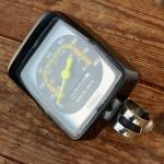 """Tachometer """"OWEKA"""", orig. 70-80er Jahre, schwarz, B=67mm / H=82mm, je nach Antrieb f. 20""""-28"""" passend"""