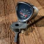 """Tachometer Fahrrad, """"VEGLIA"""",  Antreiber 26"""",  silber Hammerschlag mit Chromblende"""