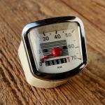 "Tachometer ""Typ VDO"", Einbautachometer für Mopeds, u.a. NSU Quickly etc."