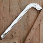 Kettenschutz, verchromt, für Fahrräder mit angelöteten Haltern, L=51cm, orig. 70/80er Jahre