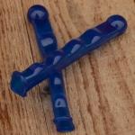 Hebelüberzug mit Kugel, passend für alle Hebelsorten, blau, orig. 60/70er Jahre, L=130mm