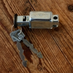 """Speichenschloss, """"HEBIE-TRUMPF"""", glanzverzinkt, für Anlötplatte, B20mm, L37mm"""