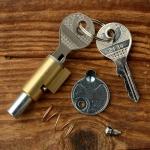 Lenkradschloss mit 8mm Bolzen, rund, Typ Neimann Nr. Mo375