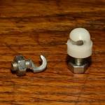 Strebenbefestigungsbolzen weiß,  Kunststoff, M5 x 10mm