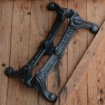 """Fahrrad Ständer """"SIMPLEX"""", anthrazit, perfekter Nachguss des über 100 Jahre alten Originals, Abstellvorrichtung"""