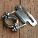 Anbauschelle für Kettenschutz, alte Ausführung, glanzverzinkt