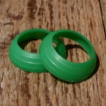 Lenkerring grün, Kunststoff, D=22/29mm