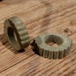 Lenkerring Lenkerschoner, grau, Gummi, 22 mm