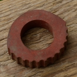 Lenkerring Lenkerschoner, rot, Gummi, 22 mm